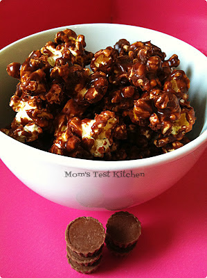 Mom's Test Kitchen: Peanut Butter Cup Popcorn
