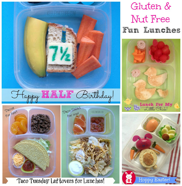 Keeley McGuire: Lunch Made Easy: Nut Free & Gluten Free Fun Lunches