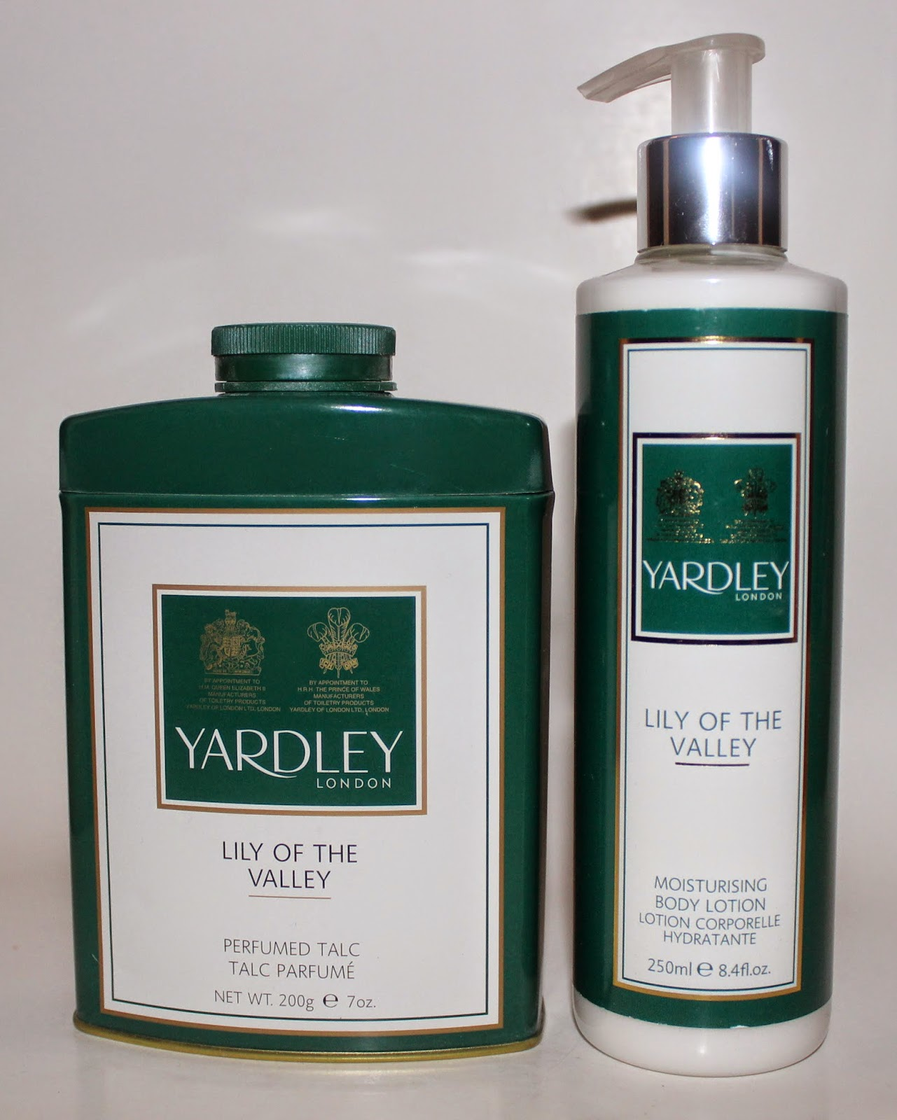 Yardley Lily of the Valley Moisturizing Body Lotion & Perfumed Talc