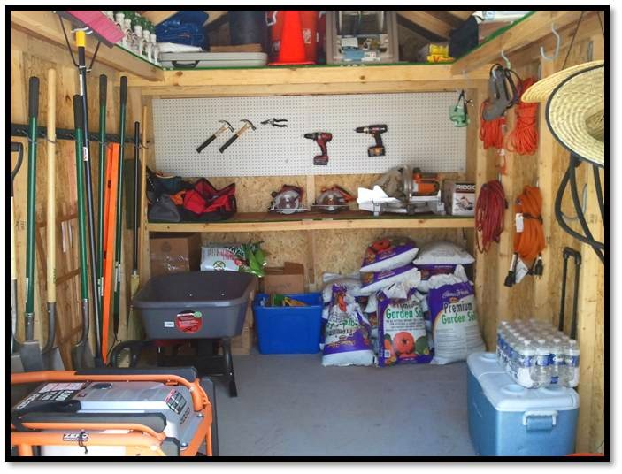 Organizing a Shed