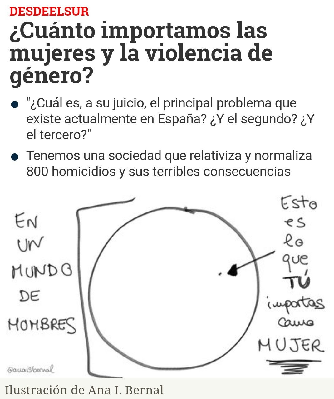 CUANTO IMPORTAMOS LAS MUJERES Y LA VIOLENCIA DE GÉNERO EN ESPAÑA