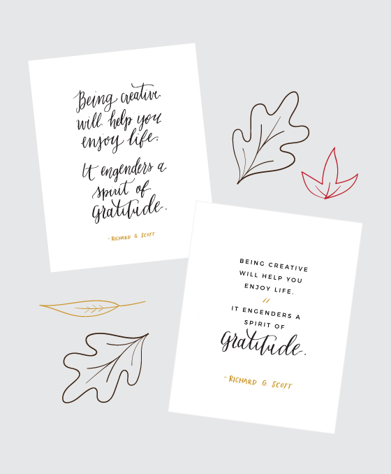 Free Thanksgiving Printable LDS Quote