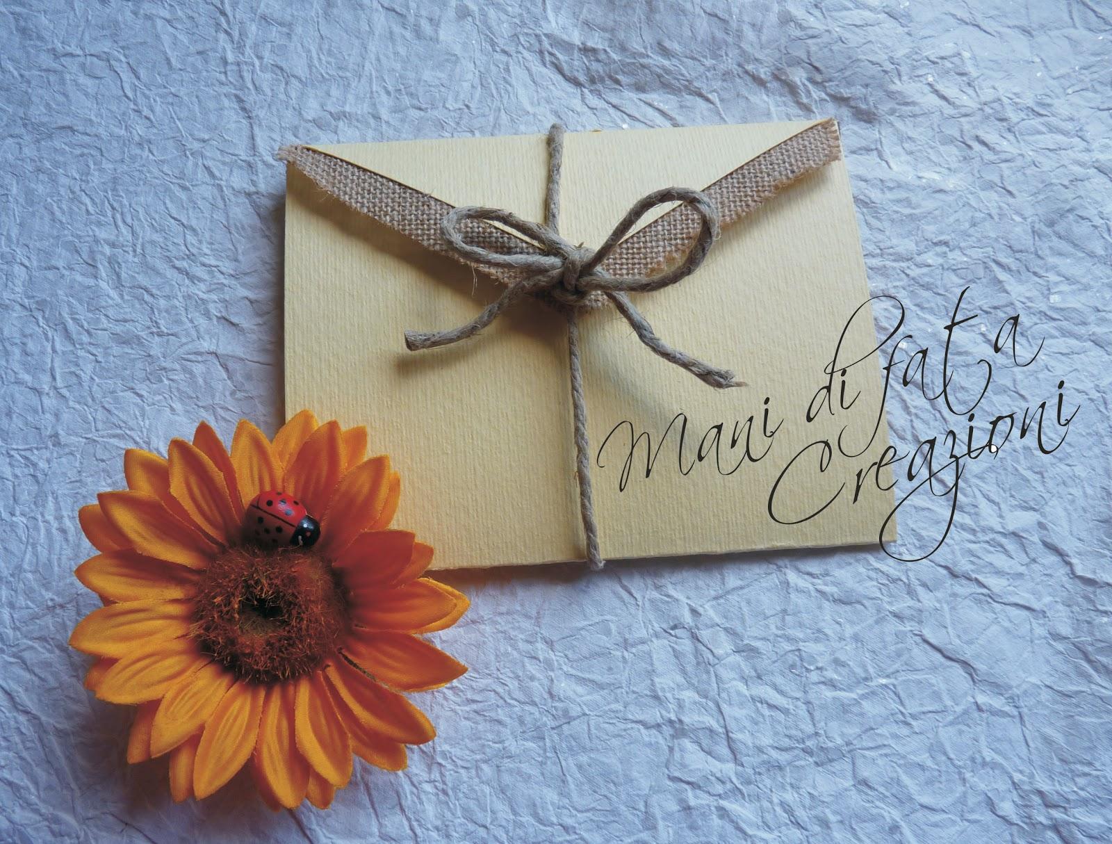 Partecipazione Matrimonio Girasoli : Mani di fata creazioni partecipazione per matrimonio rustica