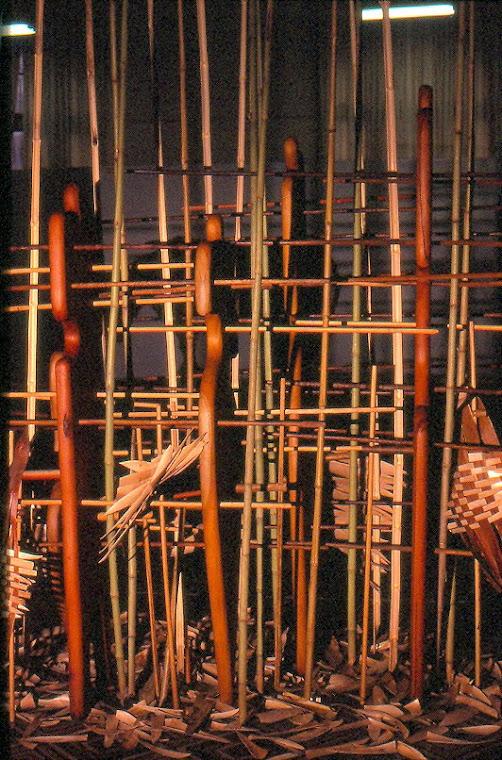 Presented in the Textile Event/85, in the MARGS - Art Museum of Rio Grande do Sul. Photo: V Silva.
