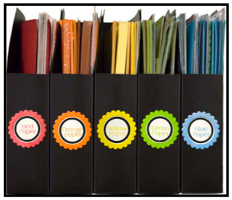 Organizing Construction Paper And Card Stock {Organizing Paper In The  Classroom}