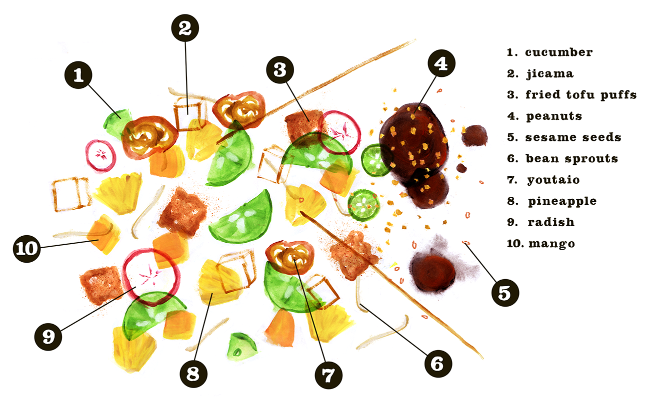 Rojak Recipe, Lauren Monaco Illustration