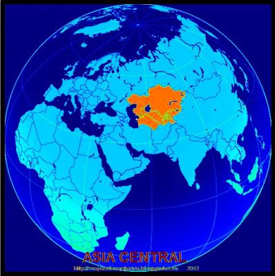 Ubicacion geografica de Asia Central