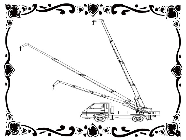 Telescopic Crane Coloring Pages