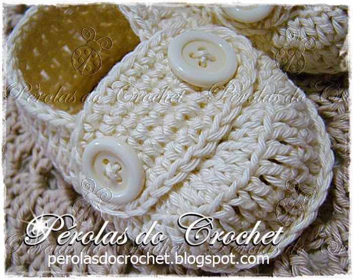 Muito Pérolas do Crochet: Sapatinho Mocassim em crochet com video aula KS43