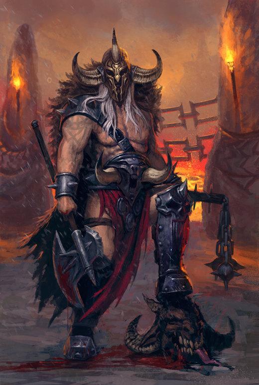 Barbarian Chieftain por Badaboom