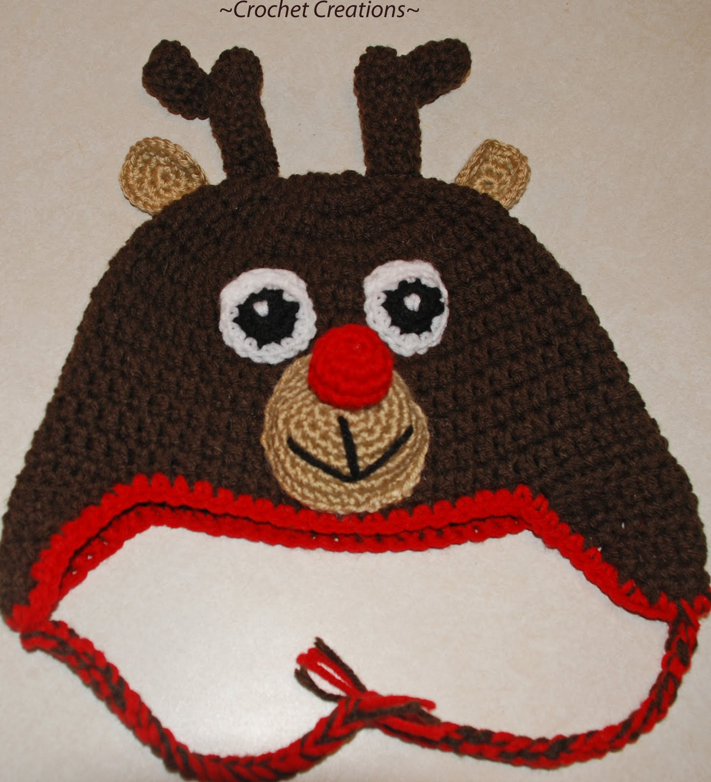 Free Crochet Patterns For Reindeer Hats : FREE CROCHET REINDEER PATTERN Crochet Tutorials