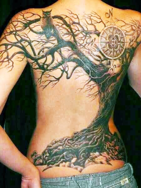 Amazing Tree Tattoo on Backside