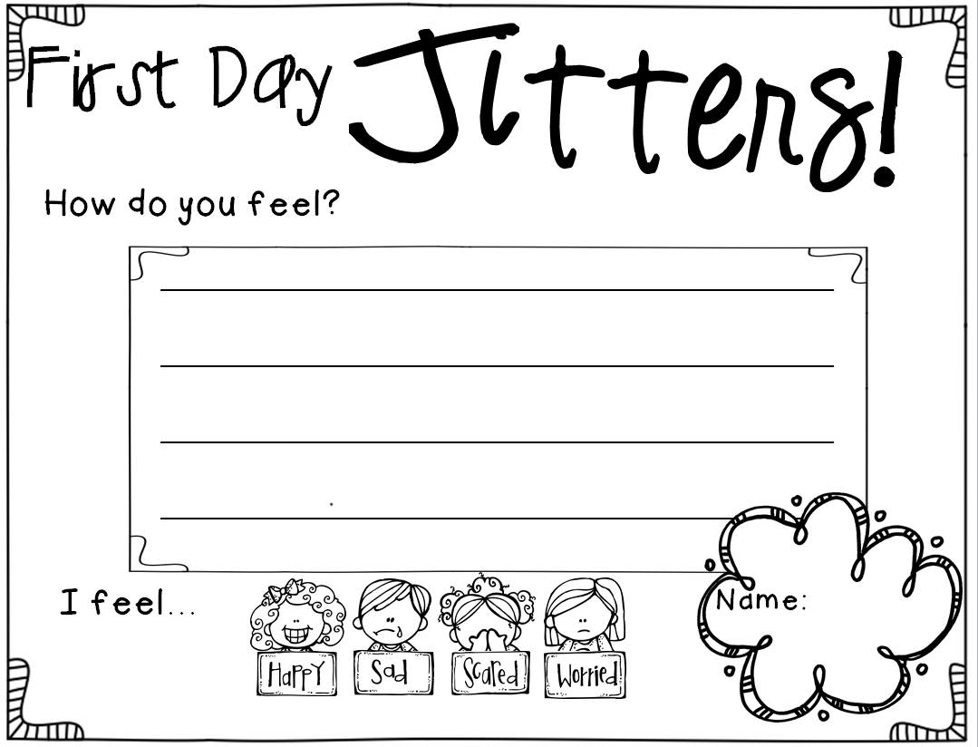 {The 2 Teaching Divas June 2014 – First Day Jitters Worksheets