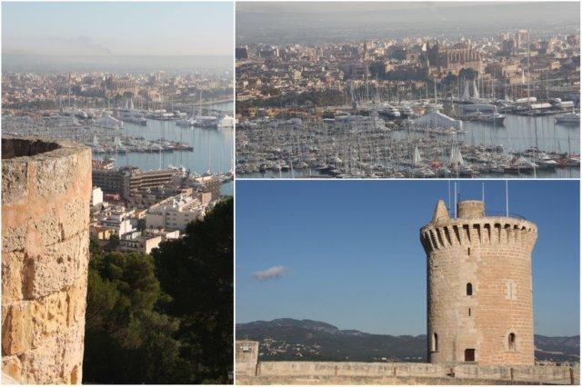 Vistas desde el Castillo de Bellver en Palma de Mallorca