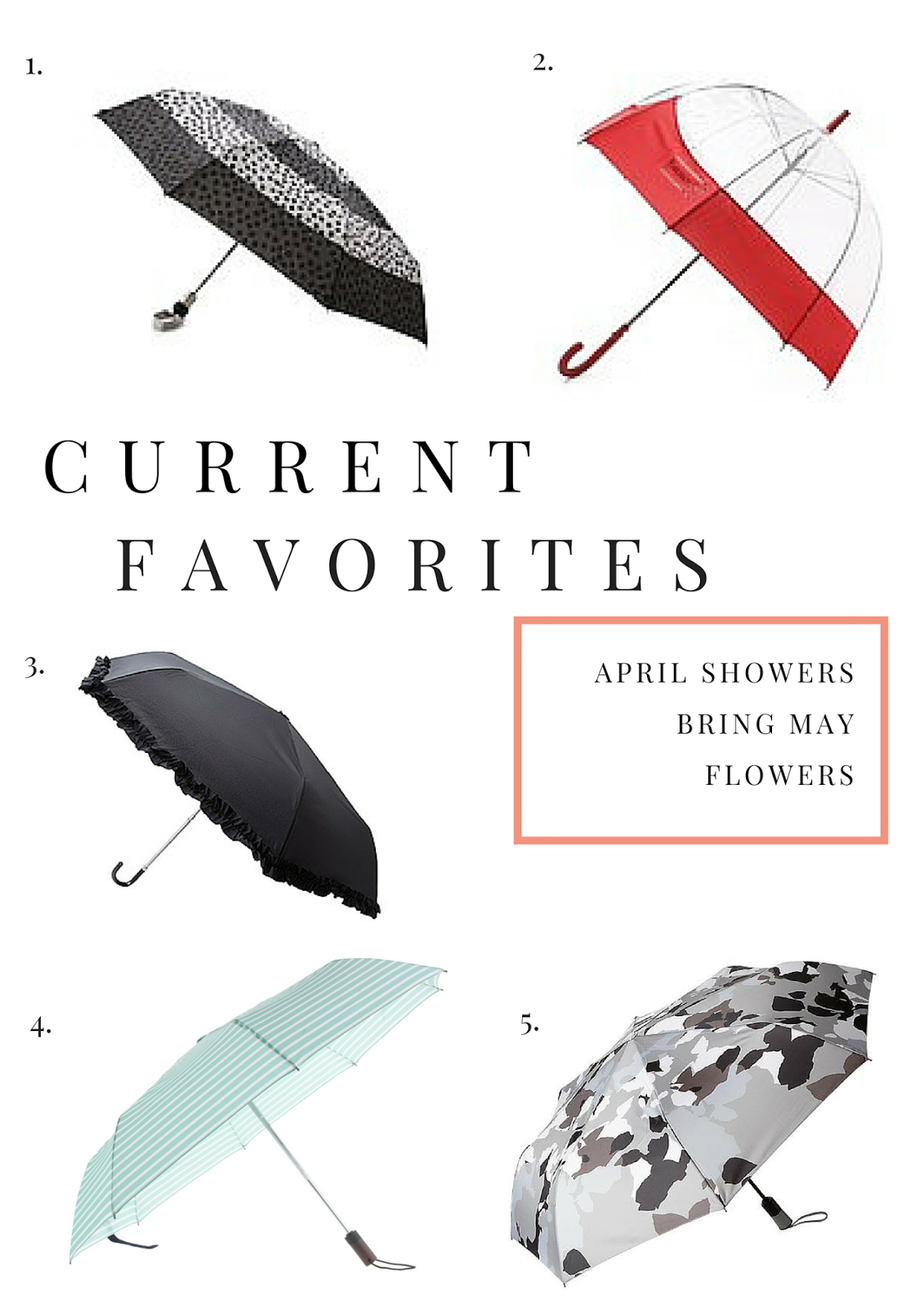 Umbrellas, Spring, Current Favorites, Project Soiree