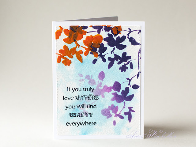 Greeting Card with Tim Holtz Blossom by Sweet Kobylkin