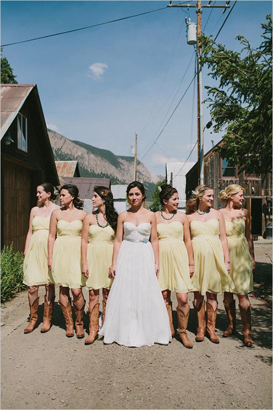 Vestidos para una boda color amarillo