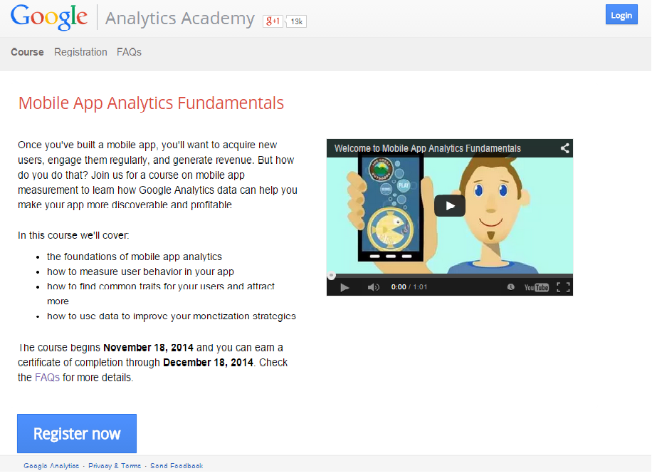 Google App Analytic Course