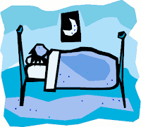 person sleeping clipart