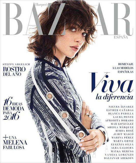 Fashion Model, @ Steffy Argelich - Harper's Bazaar Spain, January 2016