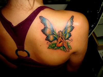 Tatuagens Fadinha nas Costas