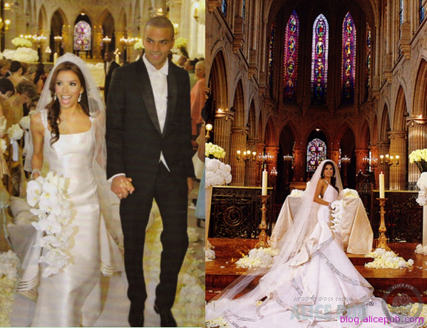 eva longoria's wedding flowers
