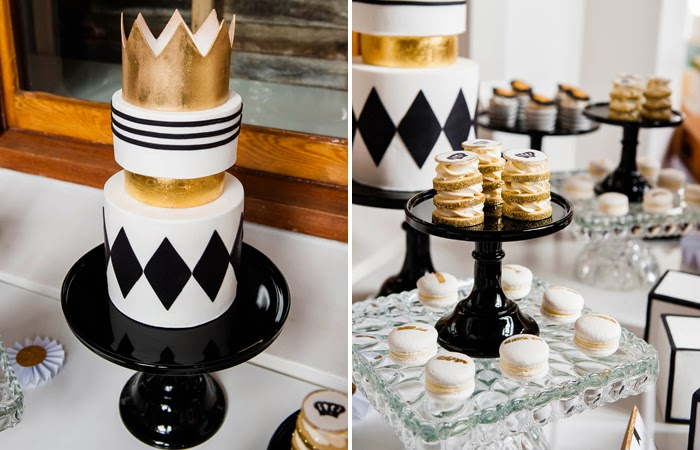 White, Gold and Black Little Prince baby Shower