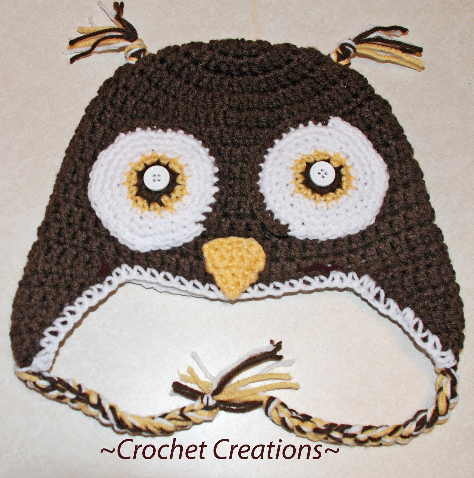 Crochet Pattern For Newborn Owl Hat : Free Crochet Owl Pattern submited images.