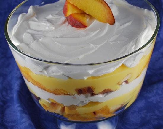 Peaches with Cream Trifle Recipe