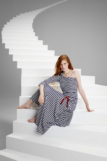 Christian Lacroix for Petit Bateau breton stripe dress