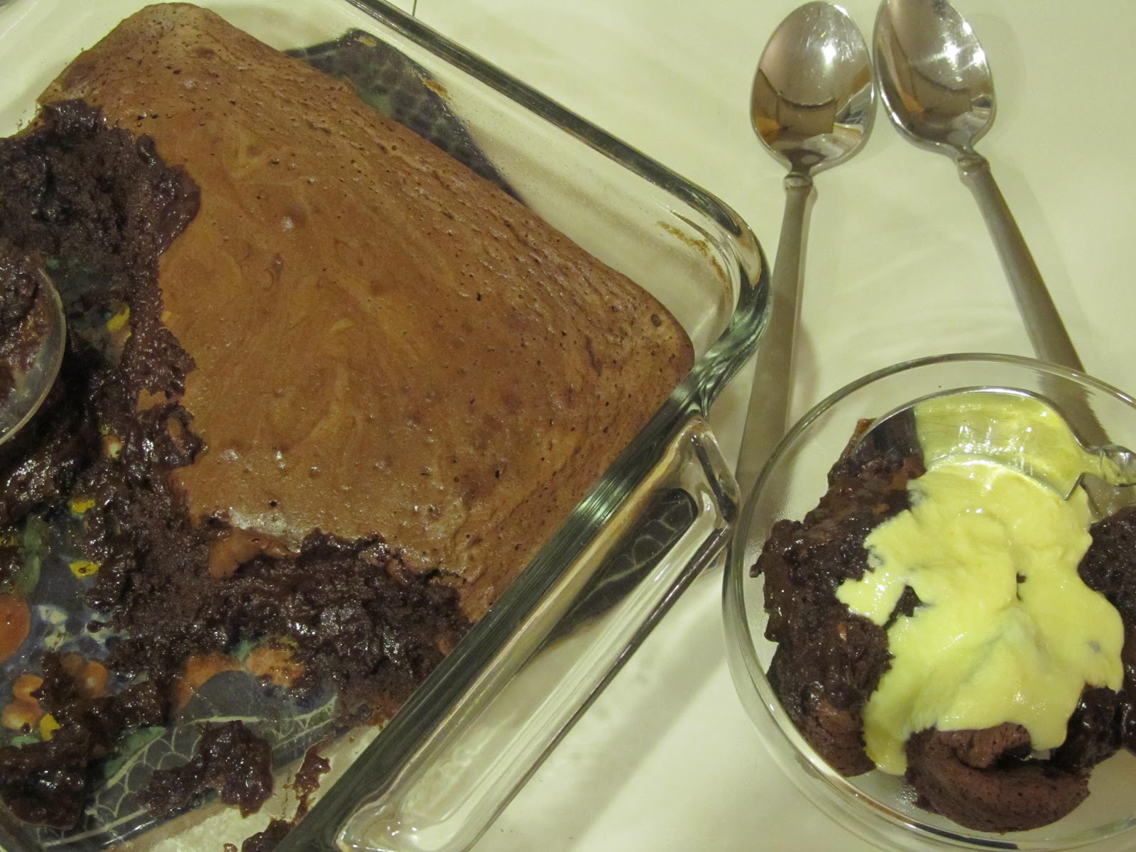... Cooking and Gardening: Soft Chocolate Cake with Orange Crème Anglaise