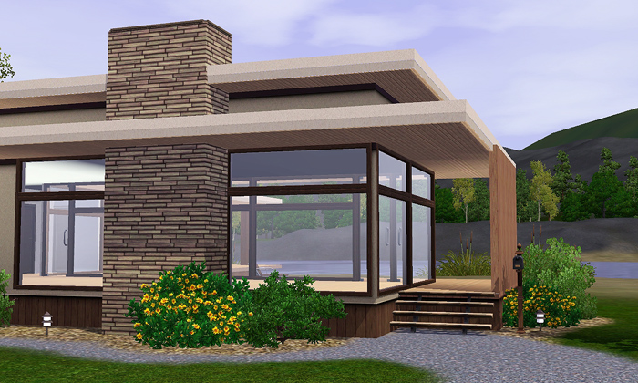My Sims 3 Blog: Lana - Unfurnished Modern House by Gelina