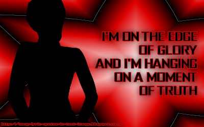 The Edge Of Glory - Lady Gaga Song Lyric Quote in Text Image