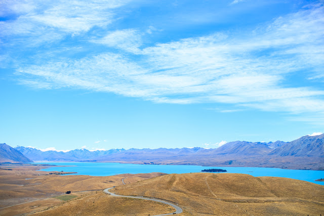 beautiful blue Lake Tekapo