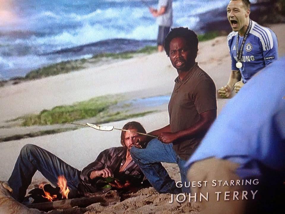 John Terry, Photobomb, Photobombing, Lost, TV Series, Chelsea, Funny, Football, Football Fun, Funny Football Pictures, funny pictures of Chelsea FC, funny pictures of John Terry