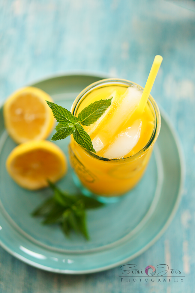 Lemonade, Mango lemonade, Mango ginger lemonade, recipe, fresh lemonade