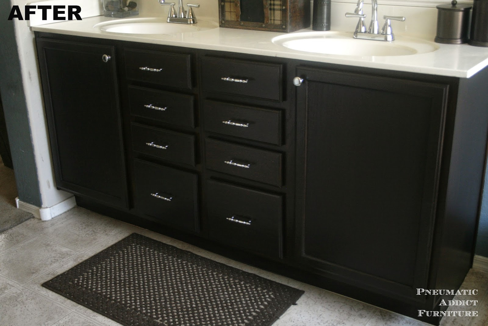 Pneumatic Addict : Darken Cabinets WITHOUT Stripping the Existing ...