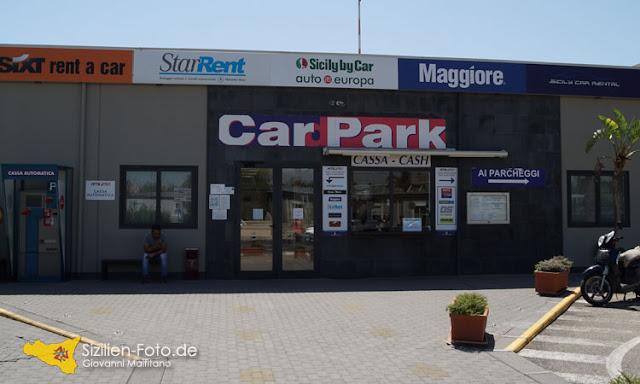Mietwagenzentrale am Flughafen Catania
