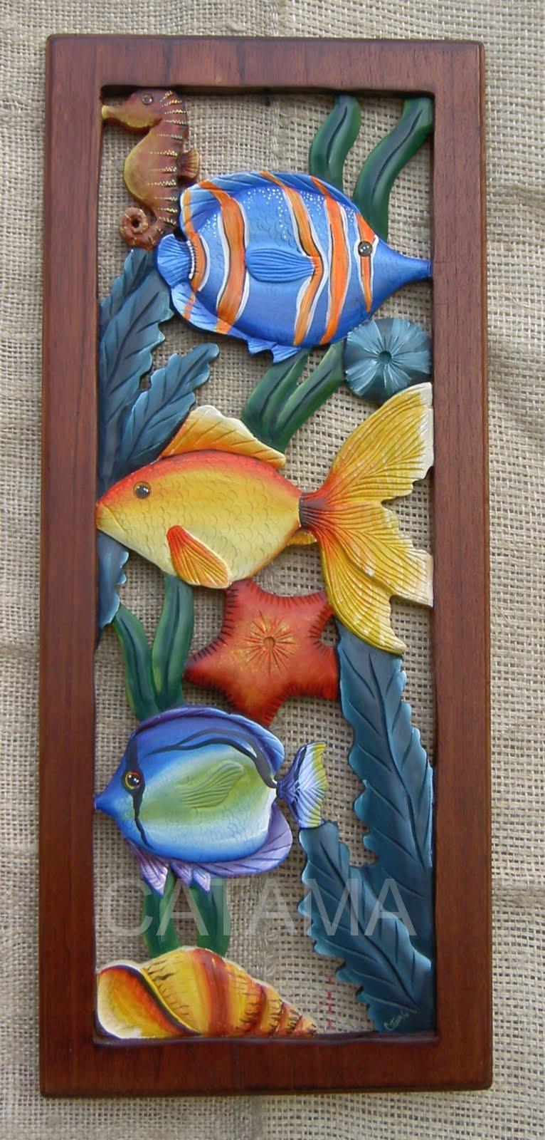 Despertando al arte cuadros tallados y calados for Cuadros de peces