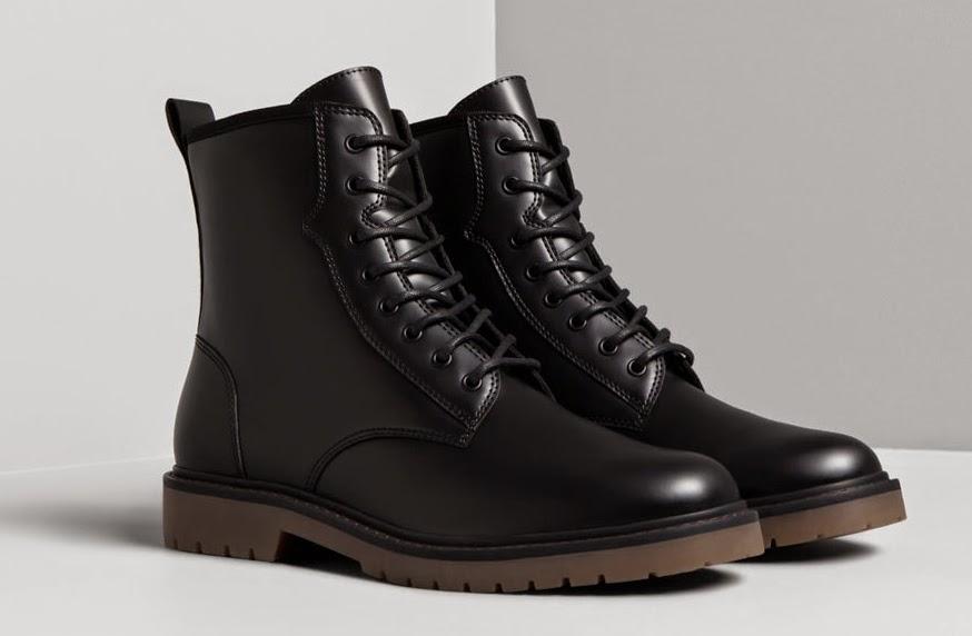 Botas Militares Hombre Zara