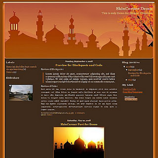 Masjid Islamic Blogger Template