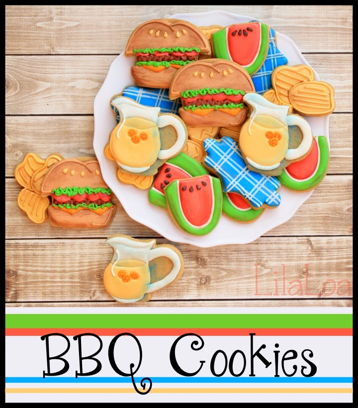 Decorated Barbecue Cookies with Chips Tutorial