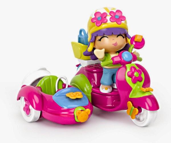 TOYS - PINYPON - Moto con Sidecar  Juguete Oficial | Famosa 700010682 | A partir de 4 años
