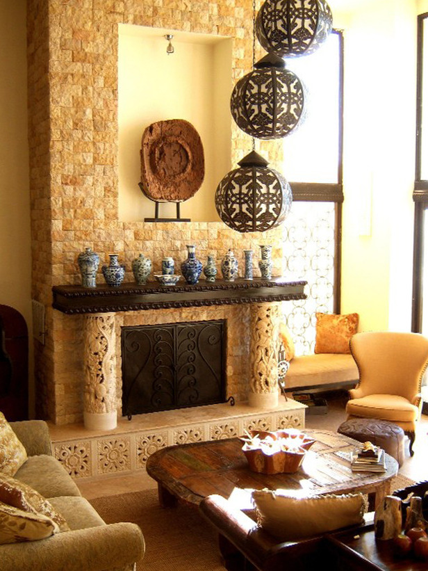 Intra design ethnic and old world decorating ideas for Home decorating ideas indian style
