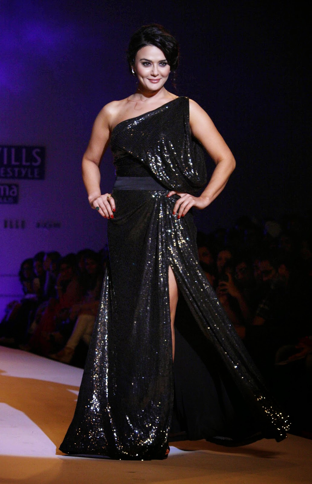 Preity zinta bollywood actress and ipl7 t20 kings xi punjab owner at the designer surily show at Wills lifestyle fashion week