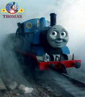 Thomas the tank engine and friends didn't believe in your white ghost train Percy the tank engine