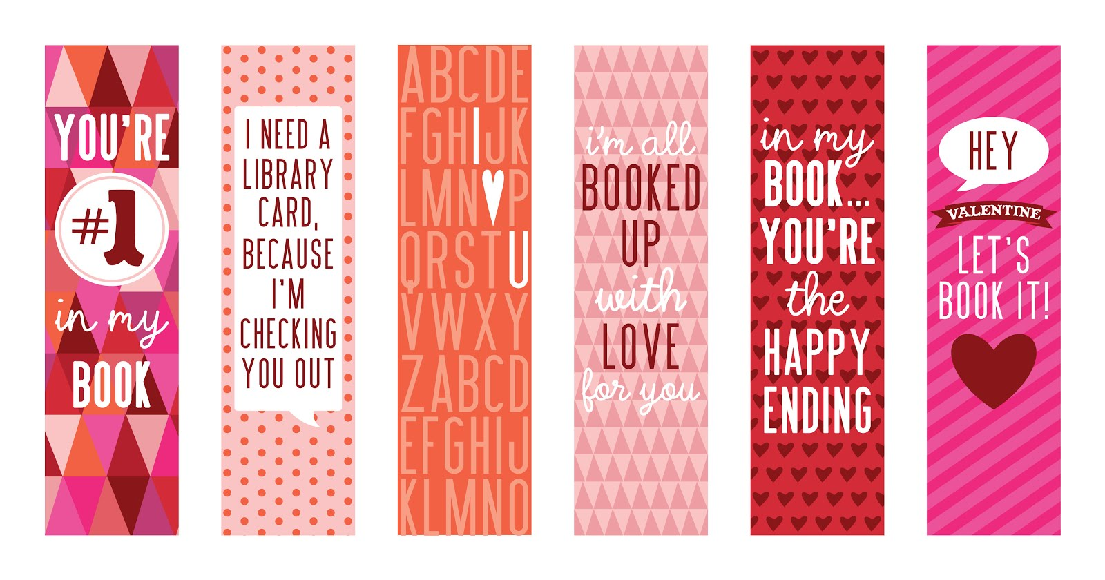 valentine bookmarks to color : Pin It On Pinterest 15 Free Valentine S Day Bookmark