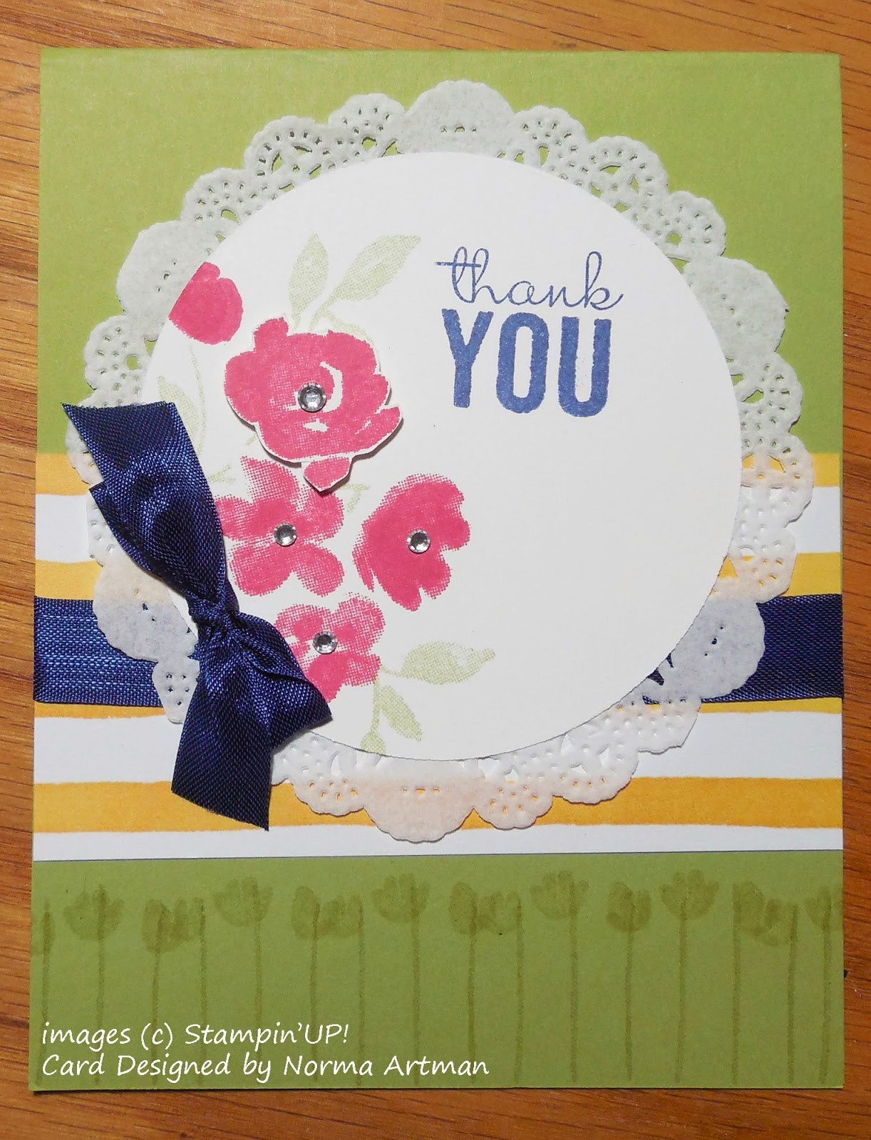 Card made with Stampin'UP!'s Painted Petals Stamp set