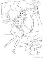 Lembar Mewarnai Barbie Fairytopia