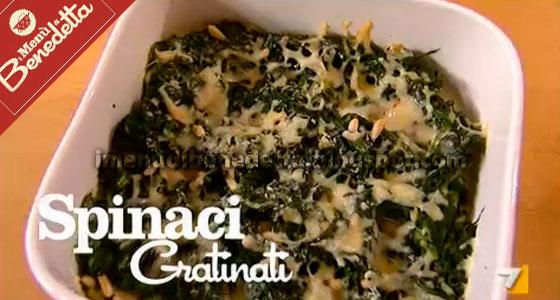Spinaci gratinati la ricetta di benedetta parodi for Cucinare spinaci